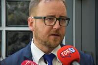 Konrad Romik, sekretarz KR BRD, udziela wywiadu