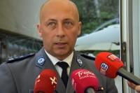 Mł. insp. Zdzisław Sudoł, szef Wydziału Ruchu Drogowego KGP udziela wywiadu
