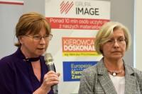 (od lewej) Bożenna Chlabicz, prezes Fundacji Zapobieganie Wypadkom Drogowym, dr Anna Łuczak, CIOP-PIB