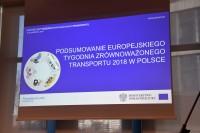 """Konferencja """"Podsumowanie kampanii Europejskiego Tygodnia Zrównoważonego Transportu w Polsce w 2018 r."""" (fot. Jolanta Mmichasiewicz)"""