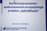 """konferencja prasowa poświęcona wynikom europejskiego projektu """"SaferWheels"""" (fot. Jolanta Michasiewicz)"""