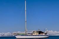 OCEAN-B. Długość 20,5 m, szerokość 5 m, zanurzenie 2,60 m, waga 35 ton, ożaglowanie typu slup