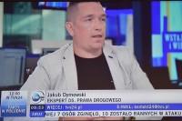 Śmiertelny wypadek kierującego hulajnogą. Wrocław, 12.9.2019. Jakub Dymowski w studiu TVN24