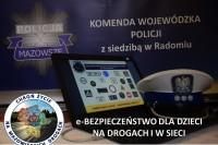 Policja Mazowiecka. eBezpieczeństwo na drodze i w sieci (fot. Policja Mazowiecka)