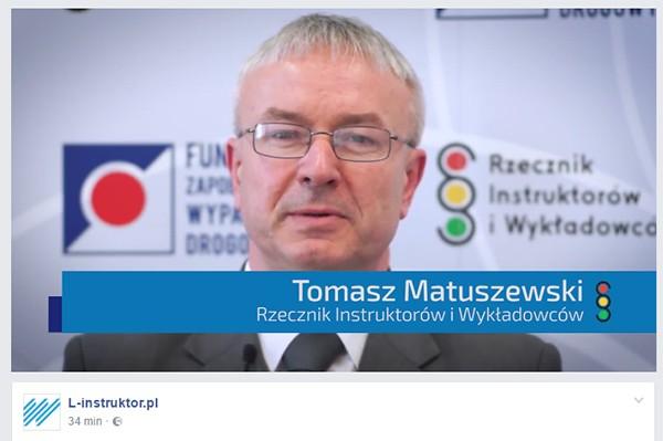 Tomasz Matuszewski mówi: Instruktor musi być zawodowcem