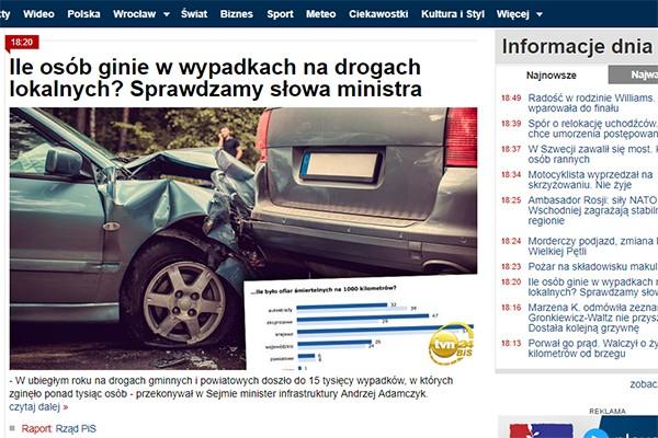 Ile osób ginie w wypadkach na drogach lokalnych? Odpowiadamy: zawsze zbyt wiele