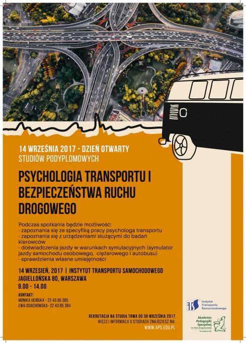 Rekrutacja na studia podyplomowe Psychologia Transportu i Bezpieczeństwa Ruchu Drogowego