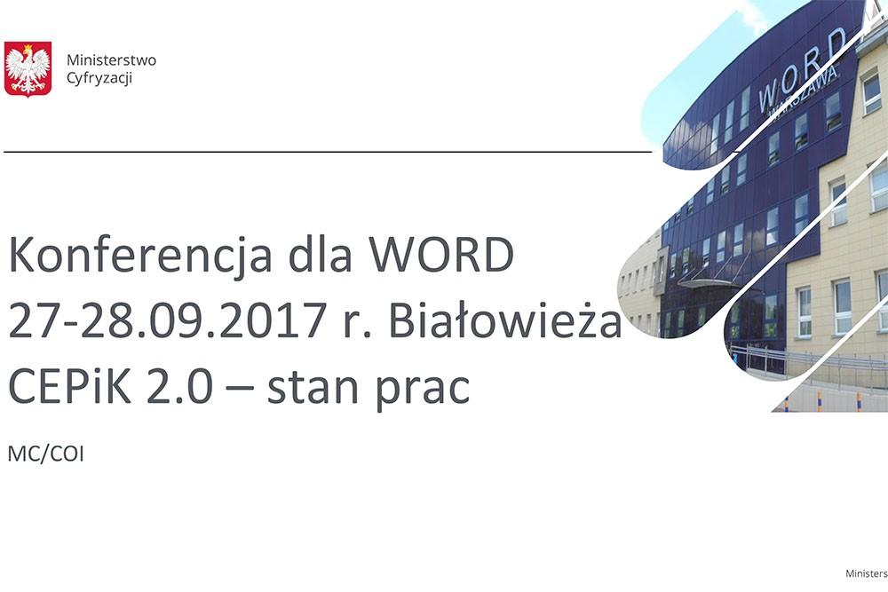 CEPiK 2.0 dla WORD i OSK - informacja Ministerstwa Cyfryzacji