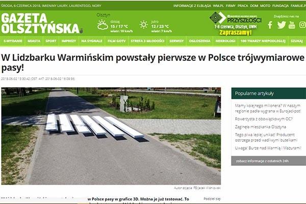 Lidzbark Warmiński ma zebrę w grafice 3D!