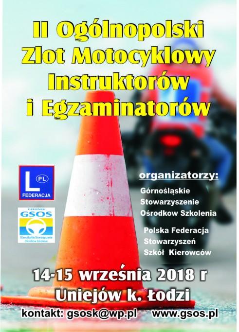 II Ogólnopolski Zlot Motocyklowy Instruktorów i Egzaminatorów. Uniejów 2018