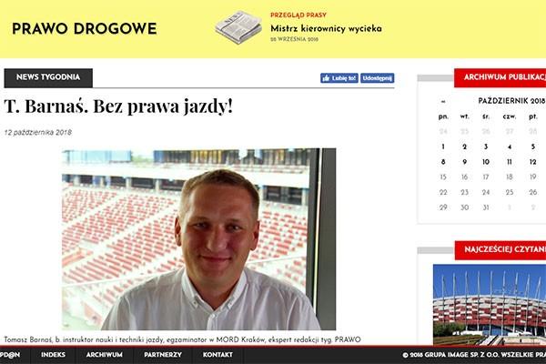 Tomasz Barnaś. Bez prawa jazdy! (cz. 2)