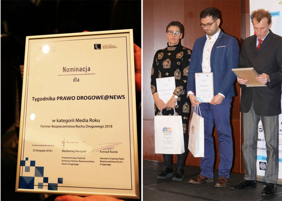 Nominacja dla PRAWA DROGOWEGO@NEWS w kategorii MEDIA ROKU 2018
