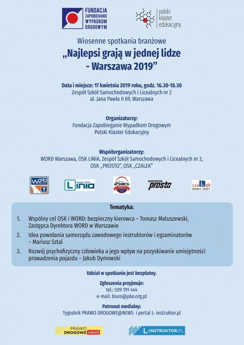 Instruktorzy nauki jazdy spotkają się w Warszawie (17.4.2019)