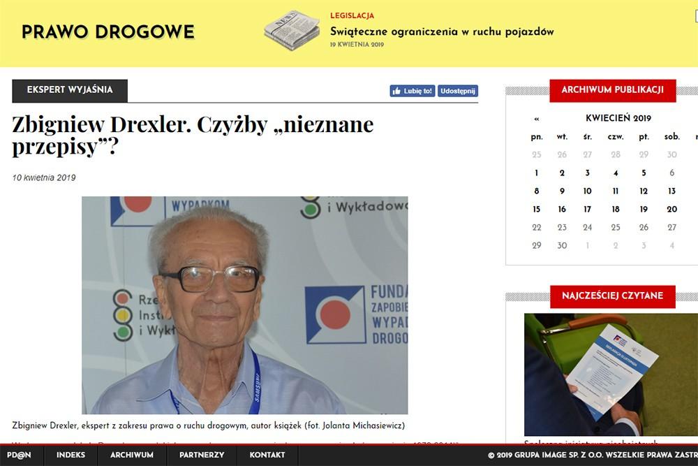 Zbigniew Drexler. Na tle rzekomo nieznanych przepisów