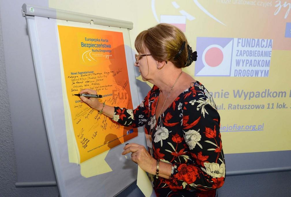 Fundacja Zapobieganie Wypadkom Drogowym sygnatariuszem europejskiego porozumienia na rzecz BRD
