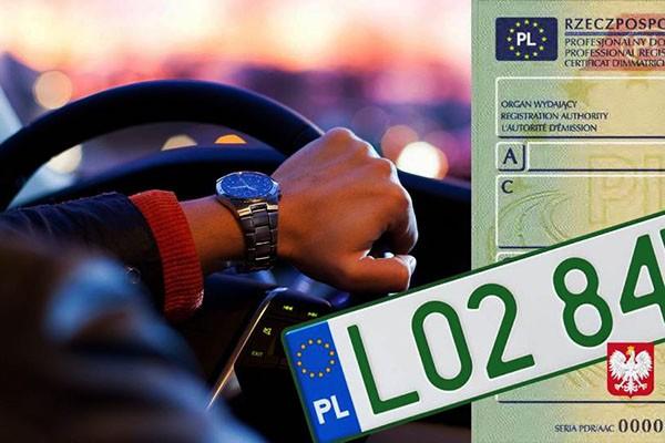 Ministerstwo Cyfryzacji: zielone tablice i profesjonalne dowody rejestracyjne