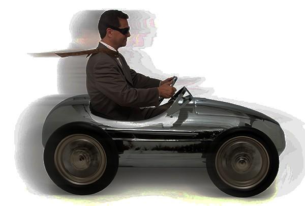 Pełnoletni kierowca skutera elektrycznego trójkołowego zabudowanego