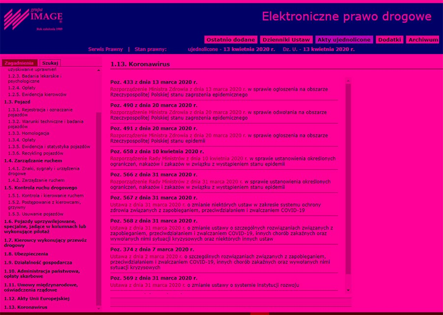 Ograniczenia, nakazy i zakazy w związku z wystąpieniem stanu epidemii – stan prawny od dnia 10.4.2020