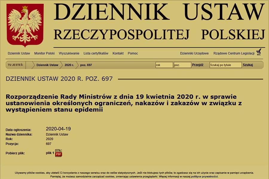 Poprawka dot. pracy urzędów w najnowszym rozporządzeniu Rady Ministrów