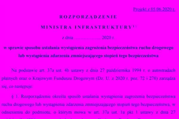 Nowe rozporządzenie w sprawie sposobu ustalania wystąpienia zagrożenia brd