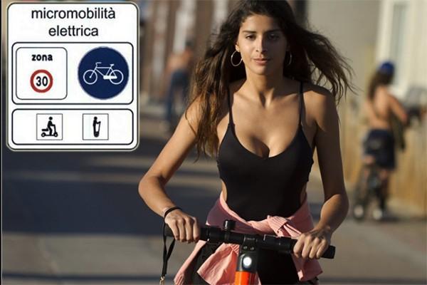Hulajnogą (monopattini elettrici) we Włoszech (2020)