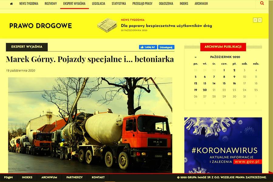Marek Górny. Pojazdy specjalne i… betoniarka (uzupełnienie)