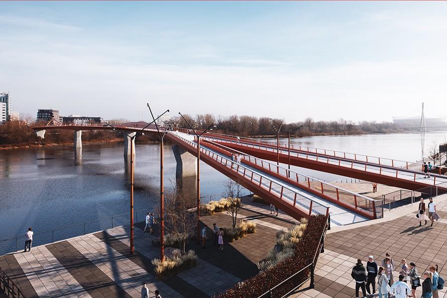 Pierwszy taki most na Wiśle