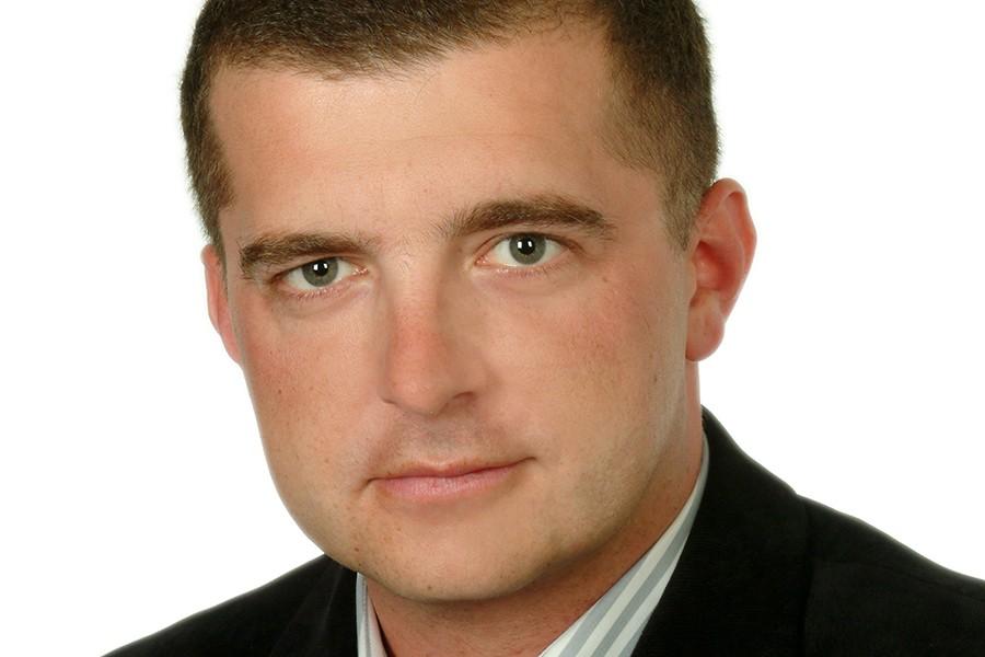 Robert Tomaszewski. Z osobą towarzyszącą w Wlk. Brytanii