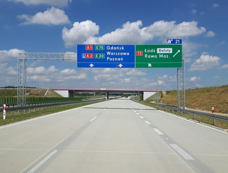 GDDKiA. Eksperymentalne oznakowanie dróg. 5.2.2020