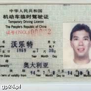 Uwaga na chińskie prawo jazdy