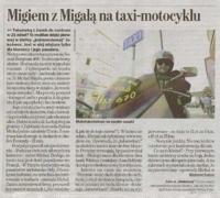 Taxi-motocykl