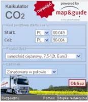 CO2 oblicz emisję twojej ciężarówki