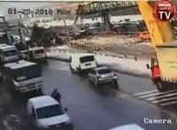 Nieuwaga kierowcy ciężarówki