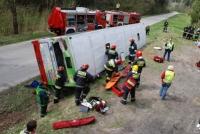 Strażaków ćwiczenia na drogach