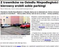 Za parkowanie na trawniku mandat 500 zł