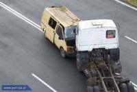 Pokazowa akcja ratownicza na drodze