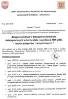 Nowelizacja ADR 2011 i innych przepisów transportowych - szkolenie