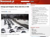 USA: auta stoją pod śniegiem