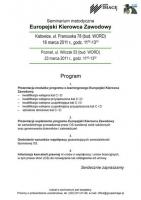 Katowice i Poznań: seminarium metodyczne Europejski Kierowca Zawodowy