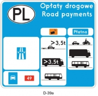 Nowe: znak drogowy oraz tabliczka drogowa