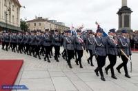 Policjanci na Placu Zamkowym