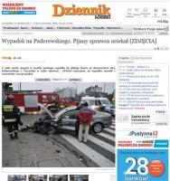 Kolejny wypadek drogowy, ranni i uciekający pijany sprawca