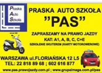"""Praska Auto Szkoła """"PAS"""" zaprasza"""