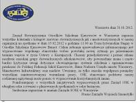 Zarząd SOSK w Warszawie zaprasza na spotkanie