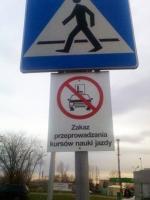 Zakaz ruchu dla pojazdów szkoleniowych