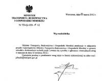 Projekt rozporządzenia w sprawie ODTJ konsultowany