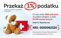 1% na pomoc ofiarom wypadków drogowych
