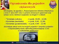Ograniczenia ruchu samochodów ciężarowych