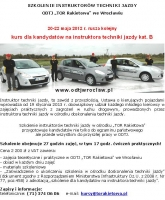 """ODTJ """"TOR Rakietowa"""": szkolenie instruktorów techniki jazdy"""