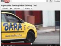 Pisanie sms-ów za kierownicą - test w szkole jazdy